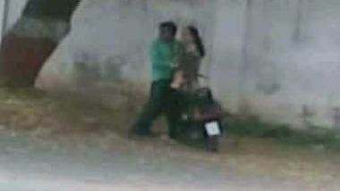 Desi Guy Having Fun With His Colleague On Scooter