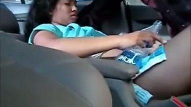 College girl's car sex mms video