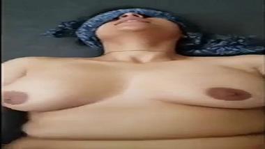 Big boobs Delhi aunty fucked blind folded by lover