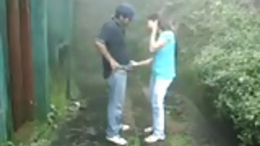 British Indian couple fuck in rain storm at hill station