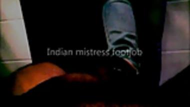 Indian mistress footjob
