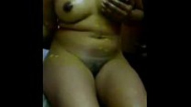 Indian wife masturbating her hairy pussy during Holi