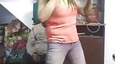 Desi girl dancing on holi