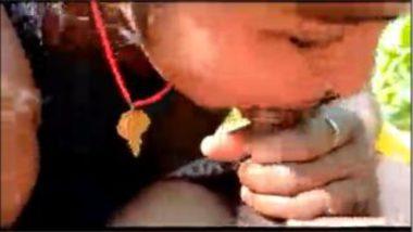 Sexy Tamil Bhabhi Vijayalakshmi Jungle Blowjob