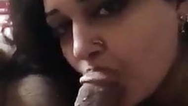 DesI Newly Married Wife Licking Husband's Cock