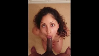 POV Indian couple blowjob and cum in mouth / swallow