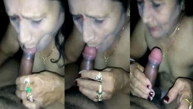 Mature village aunty blowjob to her husband's brother