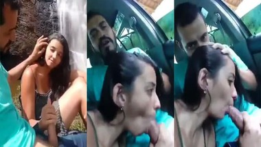 Cute Desi girl sex with her boyfriend in the outdoor