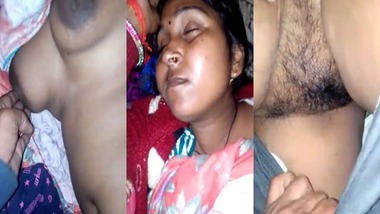 Sleeping Dehati wife nude MMS sex clip
