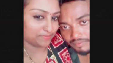 South Indian Couple Kissing