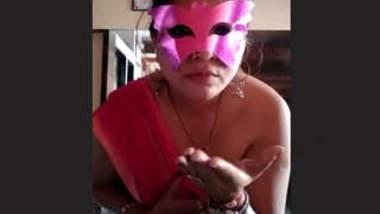 Mask Desi Aunty Nude Show