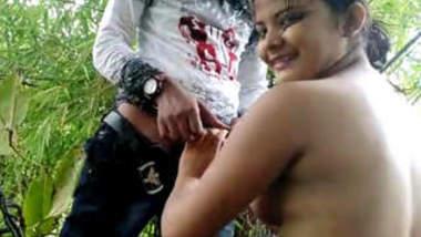 Desi Village horny couple in jungle