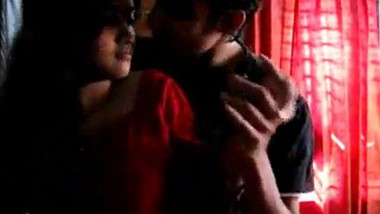 Desi cute girl with lover in room
