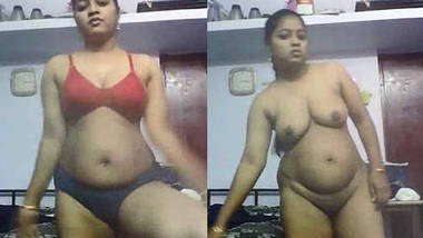 Telugu girl stripping bra panty showing big ass hole