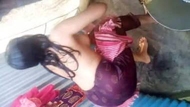 Indian Village Girl Filmed Taking Shower