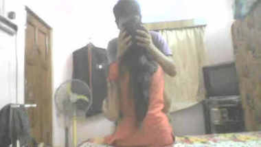 Desi kolkata lovers boobs sucking kissing hot romance in room captured by BF
