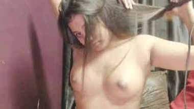 Desi Girl Trips down Hot Boobs show