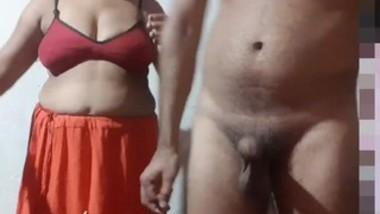 Indian big boob bhabi doggy style fucking