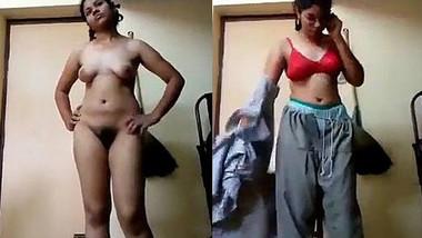 Desi college girl strip for Bf