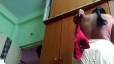 Desi mature telugu aunty vani wearing blouse captured by husband