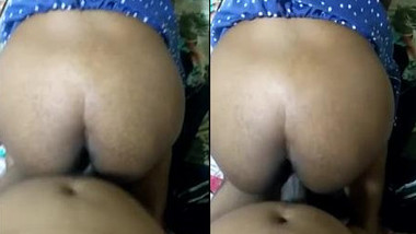 Tamil hubby fucks wife in doggy & cums on