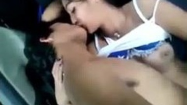 Teen Indian couple making out in the car