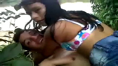 Indian teen college girl seduced and fucked outdoors
