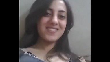 Sexy Pakistani Girl Sucking Own Boobs