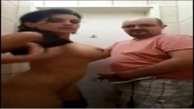 NRI Bhabhi's Sex With Husband In Restaurant's Toilet