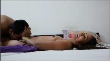 Sexy Hindi Bhabhi Enjoying TV Serial While Fucked