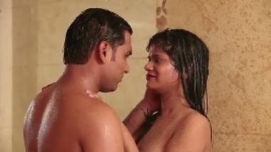 First night Indian wife honeymoon bath sex romance in Manali