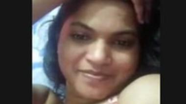 Cute girl on video call with lover