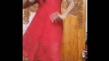 Desi cute girl with sexy dress
