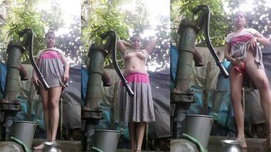[ Indian Hard XXX Porn ] Desi village bhabi nude bath