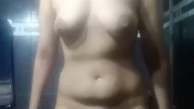 Beautiful girl show her big boob selfie cam video 2
