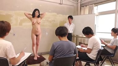 Sexy Asian Woman Poses For Naked Art