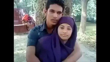 Fair Muslim bhabhi's boobs squeezed in public