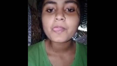 Beautiful village girl fingering selfie video capture