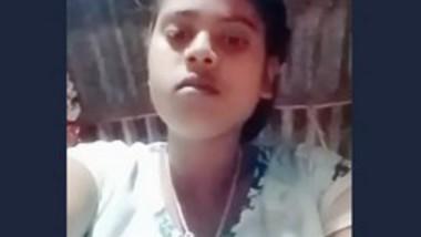 Desi village girl fingering selfie video
