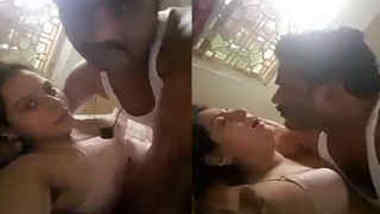 Desi cutie agrees to have sex with mustached husband on camera