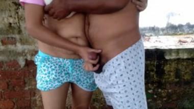 Desi village couple doggy style fucking with husband
