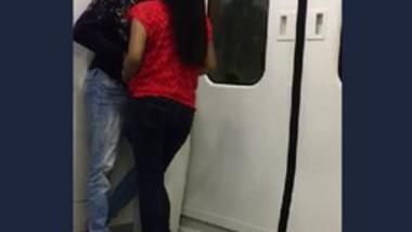 Lovers Romance in train
