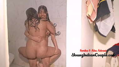 Young Indian Girls Playing Lesbian Game In shower