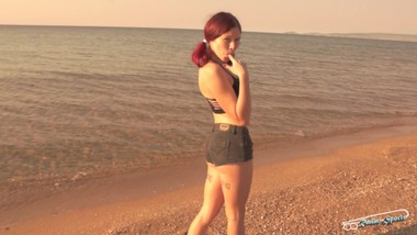 Morning blowjob with cutie teen on the beach. RadkoSports