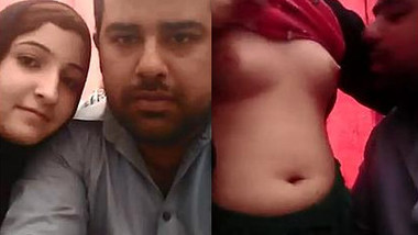 Handsome Desi guy and GF in XXX hijab make out in front of camera