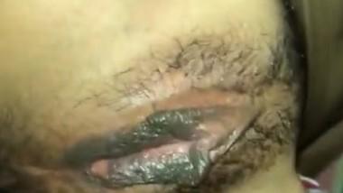 Horny bf sucking pussy like pro