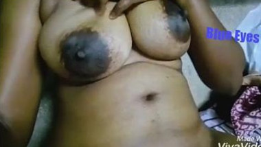 Naked Desi aunty touches jugs and XXX pussy while waiting for hubby