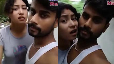 Indian cutie isn't in the mood for porn but boyfriend is too persistent
