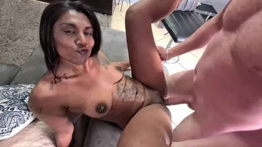 Indian girl getting fucked by a white cock | interracial