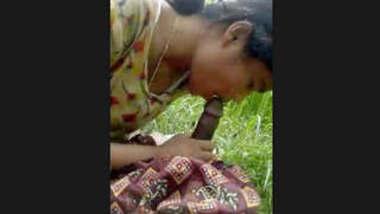 Desi Girl Blowjob in the Field New Clip